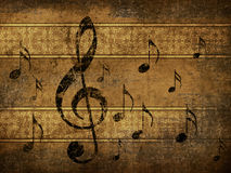 Vintage musical background Royalty Free Stock Photos