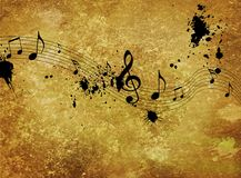 Vintage Musical background royalty free stock images