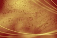 Vintage musical background. Abstract brown musical background with notes Royalty Free Stock Image