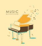 Vintage musical background Stock Photos