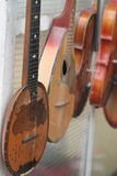 Vintage musical instruments Stock Photo