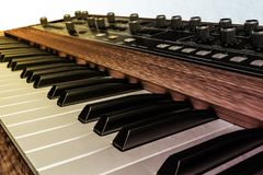 Vintage musical keyboard Royalty Free Stock Images