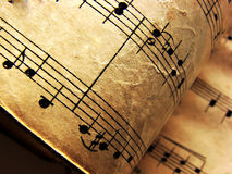 Vintage musical notes. Photo of musical notes, detail Stock Photo