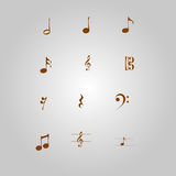Vintage musical notes Stock Photos