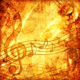 Vintage musical score Stock Images