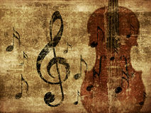 Vintage musical violin background Stock Image