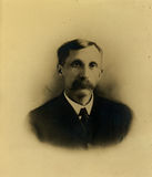 Vintage Mustache. Vintage portrait of a man with a big mustache Stock Images