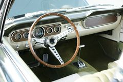 Vintage Mustang Dashboard. Dashboard Vintage Car, Ford Mustang stock photos