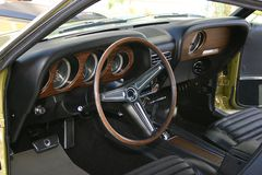 Vintage Mustang Dashboard Stock Photography
