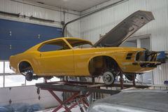 Vintage mustang project. Picture of 1970 mustang boss 302 under total restoration Stock Photography
