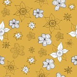 Vintage mustard yellow pattern Stock Image