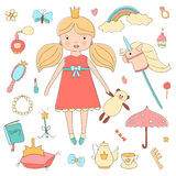 Vintage My little princess set. Royalty Free Stock Image