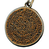 Vintage mystery amulet from old metal Royalty Free Stock Photography