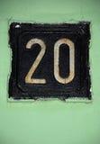 Vintage número 20 Imagem de Stock