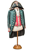 Vintage Napoleon costume isolated on white Royalty Free Stock Photo