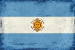 Vintage national flag of Argentina background Stock Photos
