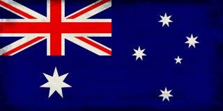 Vintage national flag of Australia background Stock Images