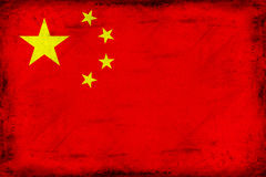 Vintage national flag of China background Royalty Free Stock Photos
