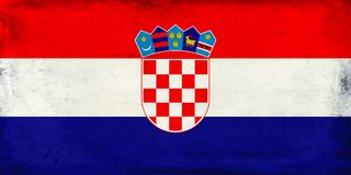 Vintage national flag of Croatia background Stock Image