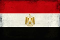 Vintage national flag of Egypt background Stock Photo