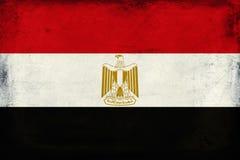 Vintage national flag of Egypt background Stock Photo