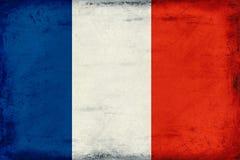 Vintage national flag of France background Royalty Free Stock Image