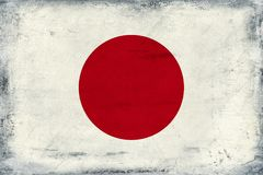 Vintage national flag of Japan background Royalty Free Stock Photography