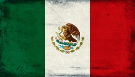 Vintage national flag of Mexico background Royalty Free Stock Images