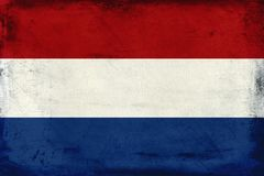 Vintage national flag of Netherlands background Stock Photography