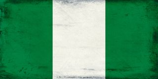 Vintage national flag of Nigeria background Royalty Free Stock Photos