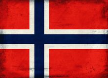 Vintage national flag of Norway background Stock Photography