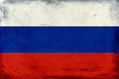 Vintage national flag of Russia background Stock Images