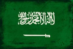 Vintage national flag of Saudi Arabia background Stock Photo
