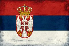 Vintage national flag of serbia background Royalty Free Stock Photos