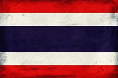 Vintage national flag of Thailand background Royalty Free Stock Photography