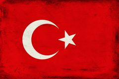 Vintage national flag of Turkey background Royalty Free Stock Images