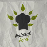 Vintage natural food poster design Stock Photos