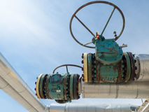 Vintage Natural Gas Valves Stock Photography