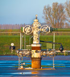 Natural gas production wellhead Royalty Free Stock Image