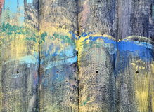 Vintage natural texture in multicolor paint. Wooden planks painted with paint cracked by a rustic background. Color wood background textures Stock Photography