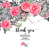 Vintage natural vector lace and camellia flowers Royalty Free Stock Image