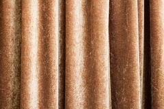 Vintage natural velvet brown curtain texture Royalty Free Stock Photos