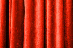 Vintage natural velvet red curtain texture Royalty Free Stock Images