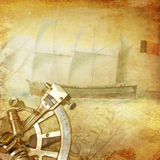 Vintage nautical background Stock Image