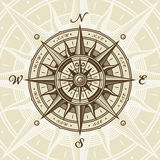 Vintage nautical compass rose vector illustration