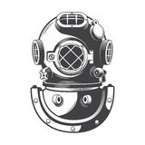 Vintage nautical diving helmet vector
