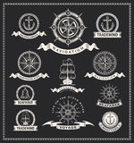 Vintage nautical labels Royalty Free Stock Images
