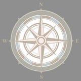Vintage nautical or marine compass on gray Stock Photo