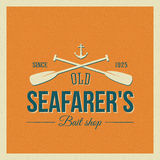 Vintage Nautical Vector Label or Logo with Retro Royalty Free Stock Images