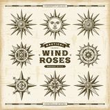 Vintage Nautical Wind Roses Set vector illustration